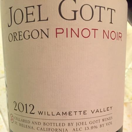 Joel Gott Wines Willamette Valley Pinot Noir 2015