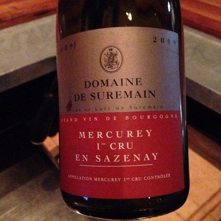 Domaine de Suremain En Sazenay Mercurey 1er Cru Pinot Noir 2009