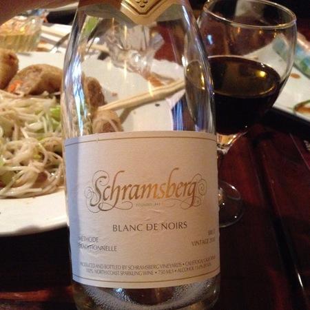 Schramsberg Vineyards Brut Blanc de Noirs North Coast Sparkling Pinot Noir Chardonnay NV