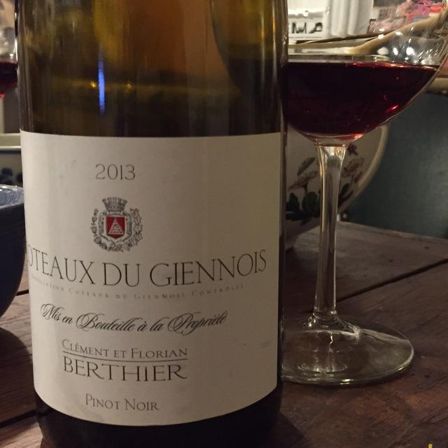 Coteaux du Giennois Pinot Noir 2013