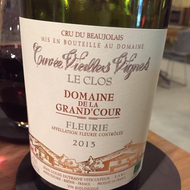 Les Clos Cuvée Vielles Vignes Fleurie Gamay 2014