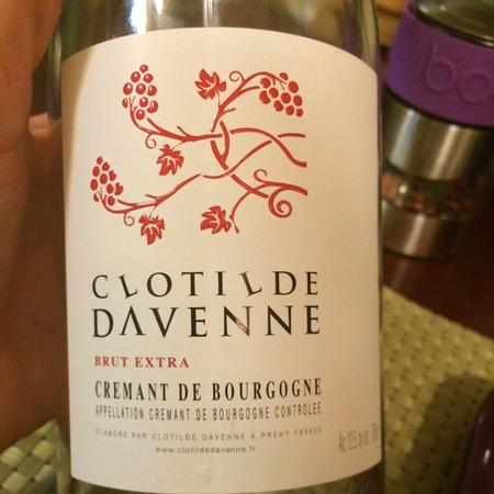 Clotilde Davenne Brut Extra Crémant de Bourgogne Chardonnay Pinot Noir NV