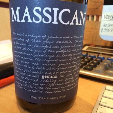 Massican Gemina California Greco Pinot Grigio 2016