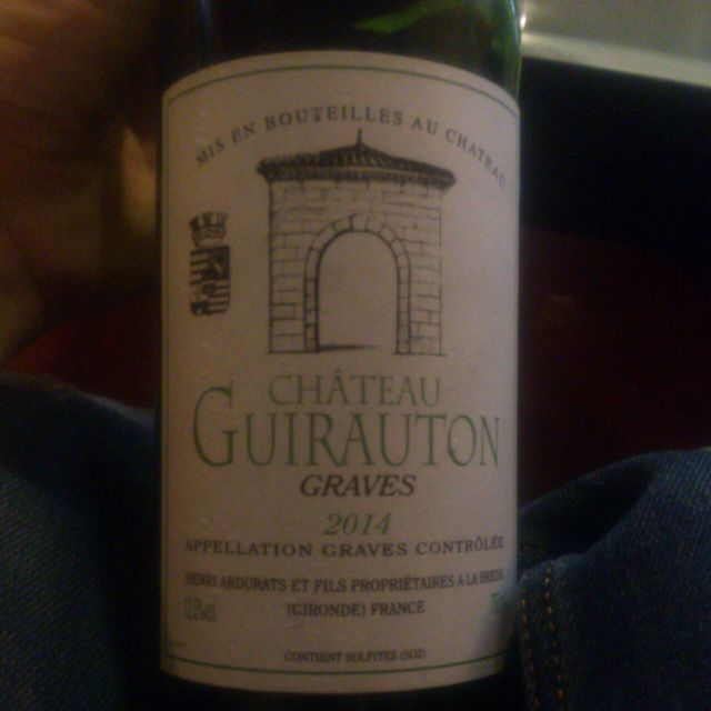 Graves White Bordeaux Blend 2014