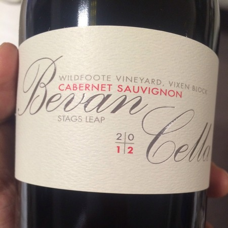 Bevan Cellars Wildfoote Vineyard Vixen Block Cabernet Sauvignon 2012