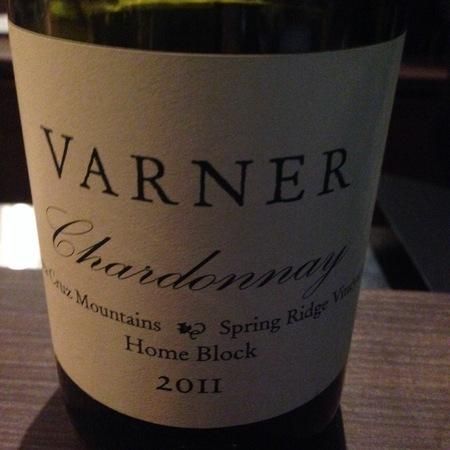Varner Spring Ridge Vineyard Home Block Chardonnay 2011