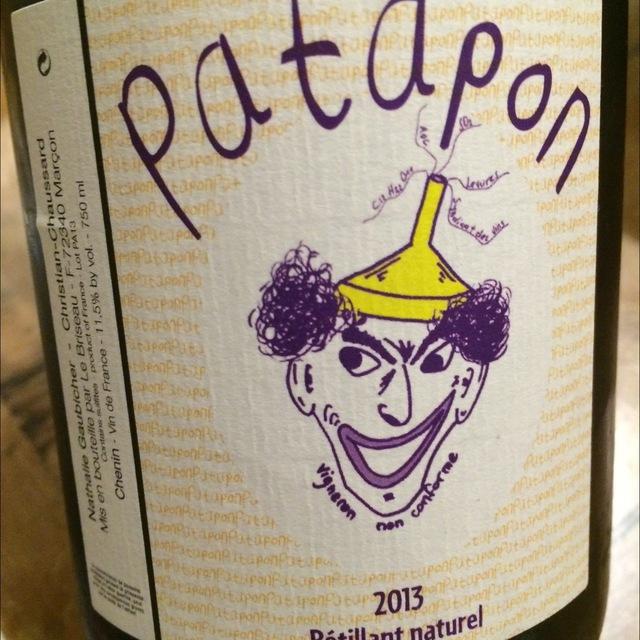 Patapon Petillant Naturel Chenin Blanc 2013