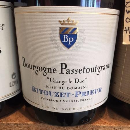 Bitouzet-Prieur Grange le Duc Bourgogne Passetoutgrains Gamay Pinot Noir 2015