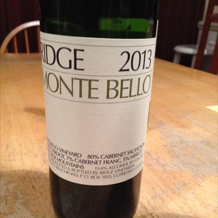 Ridge Vineyards Monte Bello Estate Cabernet Sauvignon Blend 2013 (1500ml)