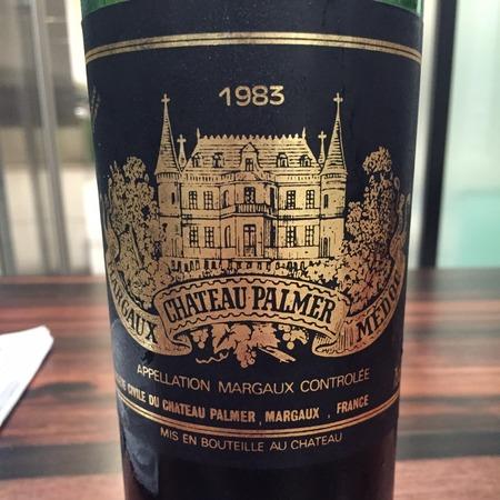 Château Palmer Margaux Red Bordeaux Blend 1983
