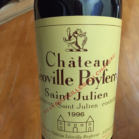 Château Léoville Poyferré Saint Julien Red Bordeaux Blend 1996