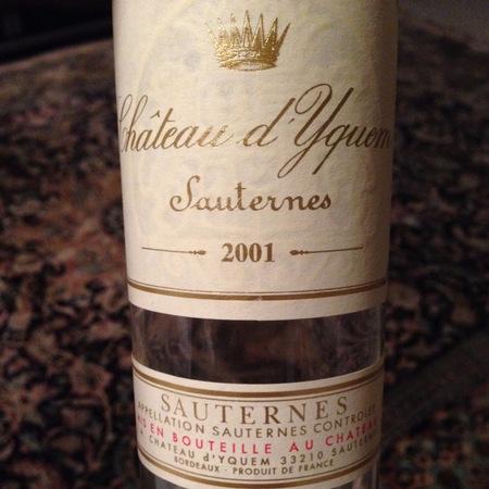 Château d'Yquem Sauternes Sémillon-Sauvignon Blanc Blend 2001