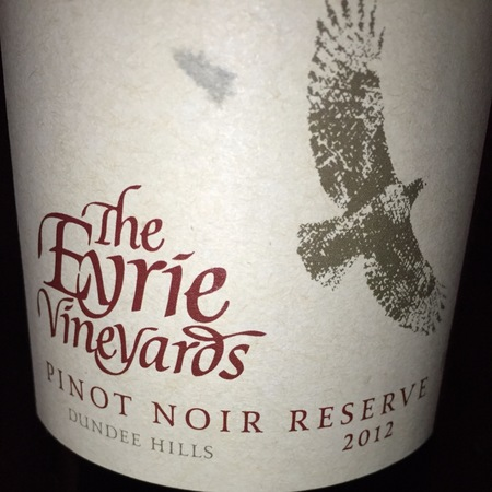 The Eyrie Vineyards  Original Vines Reserve Dundee Hills Pinot Noir 2013