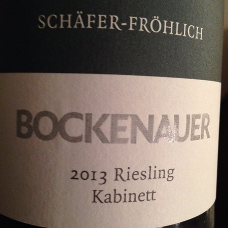 Schäfer-Fröhlich Bockenauer Kabinett Riesling 2013