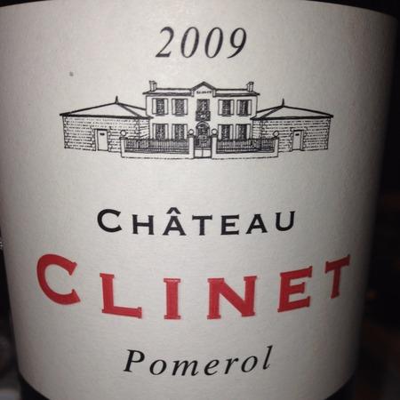 Château Clinet Pomerol Red Bordeaux Blend   2009