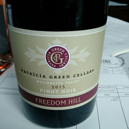 Patricia Green Cellars Freedom Hill Vineyard Pinot Noir 2014