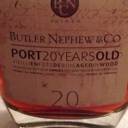 Butler Nephew and Co 20 Years Old Port Blend