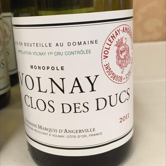 Clos des Ducs Monopole Volnay 1er Cru Pinot Noir 2011
