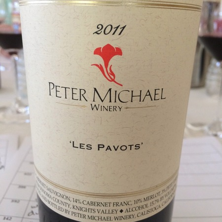 Peter Michael Winery Les Pavots Knights Valley Cabernet Sauvignon Blend 2014