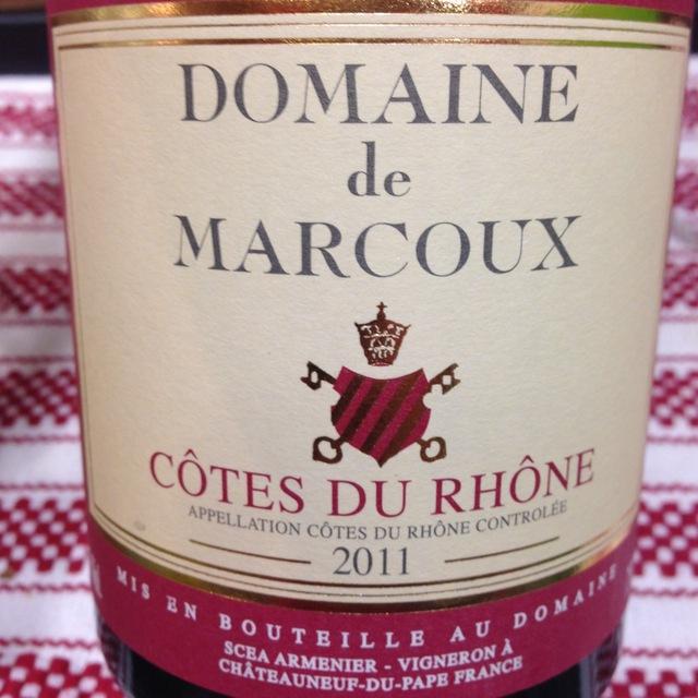 Côtes du Rhône Red Rhone Blend 2011