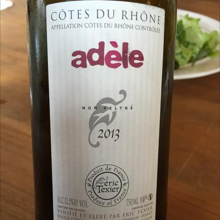 Éric Texier Adele Côtes du Rhône Blanc Marsanne Clairette 2016
