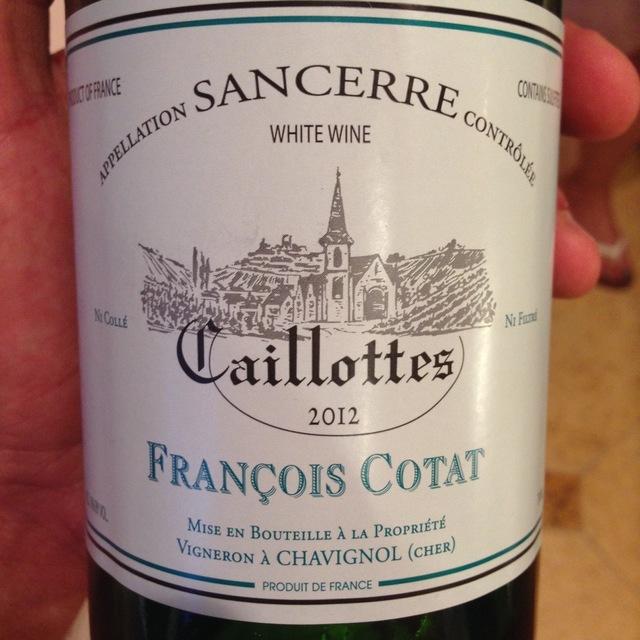 Les Caillottes Sancerre Sauvignon Blanc 2015