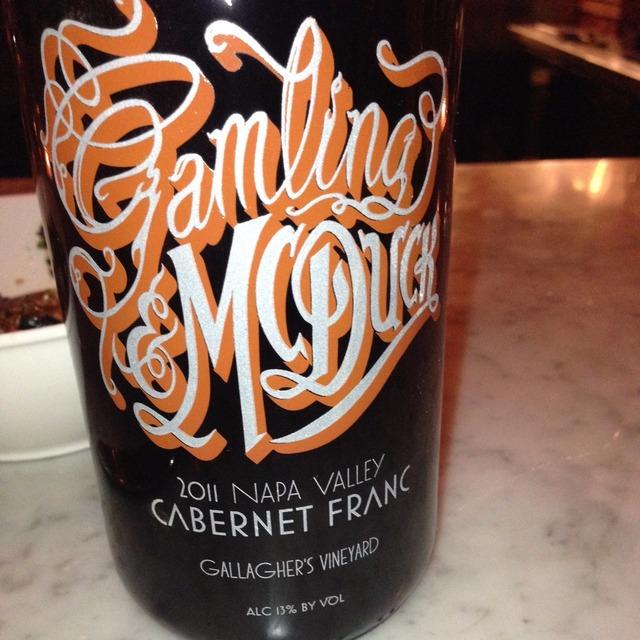 Gallagher's Vineyard Cabernet Franc 2011