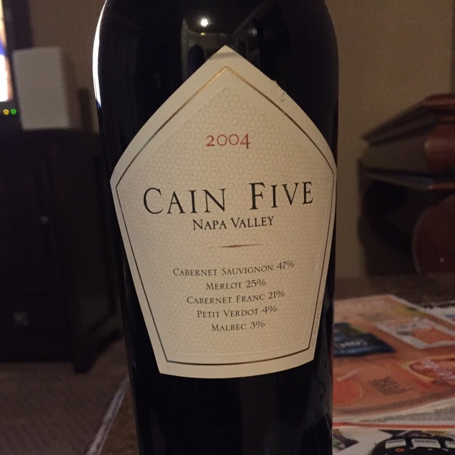 Cain Five Napa Valley Cabernet Sauvignon Blend  2011