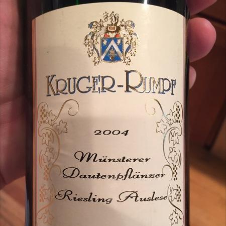 Kruger-Rumpf Münsterer Dautenplänzer Auslese Riesling 2014
