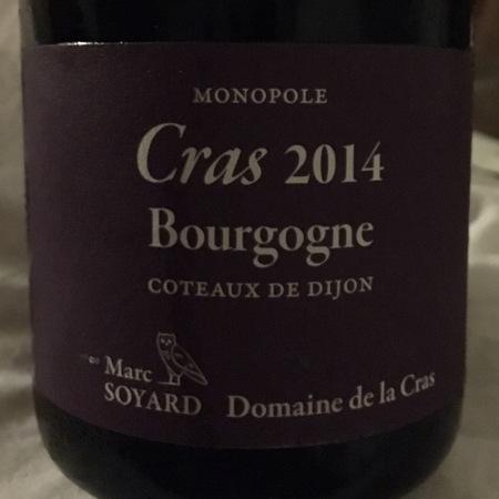Domaine de la Cras (Marc Soyard) Monopole Cras Bourgogne Coteaux de Dijon Chardonnay 2015