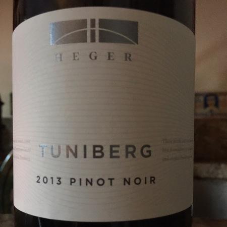 Heger Tuniberg Pinot Noir 2013