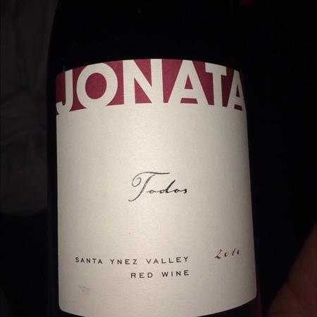 Jonata Winery Todos Santa Ynez Valley Syrah Cabernet Sauvignon 2013