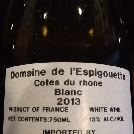 Domaine de l'Espigouette (Bernard Latour) Côtes du Rhône White Rhone Blend 2013