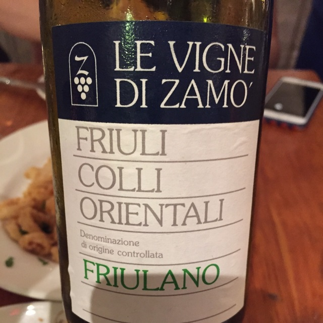 Friuli Colli Orientali Friulano 2012