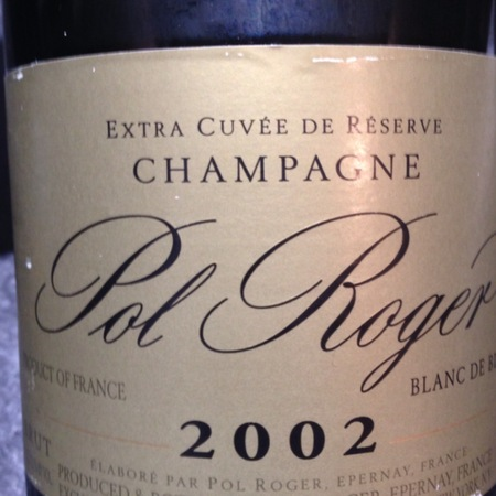 Pol Roger Extra Cuvée de Réserve Blanc de Blancs Brut Champagne Chardonnay  2002