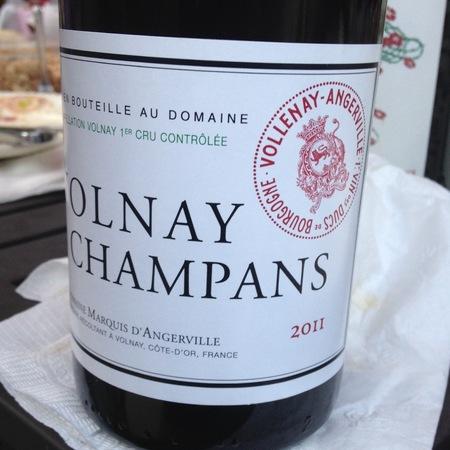 Domaine Marquis d'Angerville Champans Volnay 1er Cru Pinot Noir 2011