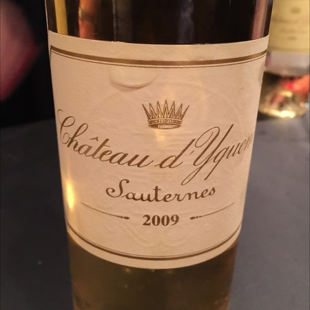 Château d'Yquem Sauternes Sémillon-Sauvignon Blanc Blend 2009
