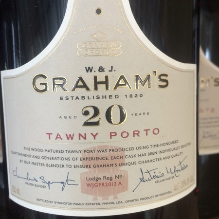 W. & J. Graham's Aged 20 Years Tawny Port Blend NV
