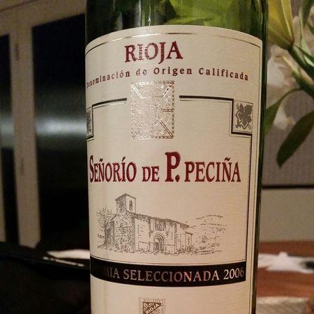 Bodegas Hermanos Peciña Señorío de P. Peciña Vendimia Seleccionada Rioja Tempranillo Blend 2006