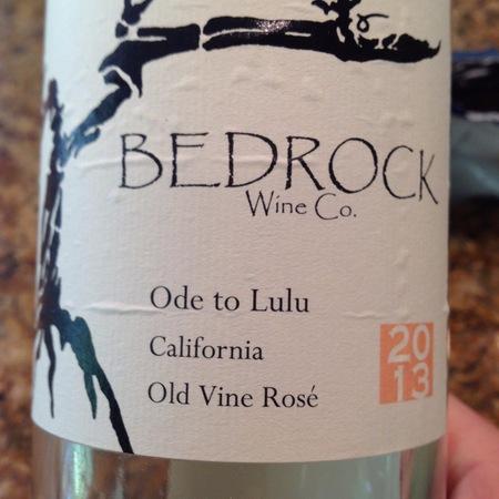 Bedrock Wine Co. Ode to Lulu California Old Vine Rosé Mourvèdre Blend 2015 (1500ml)
