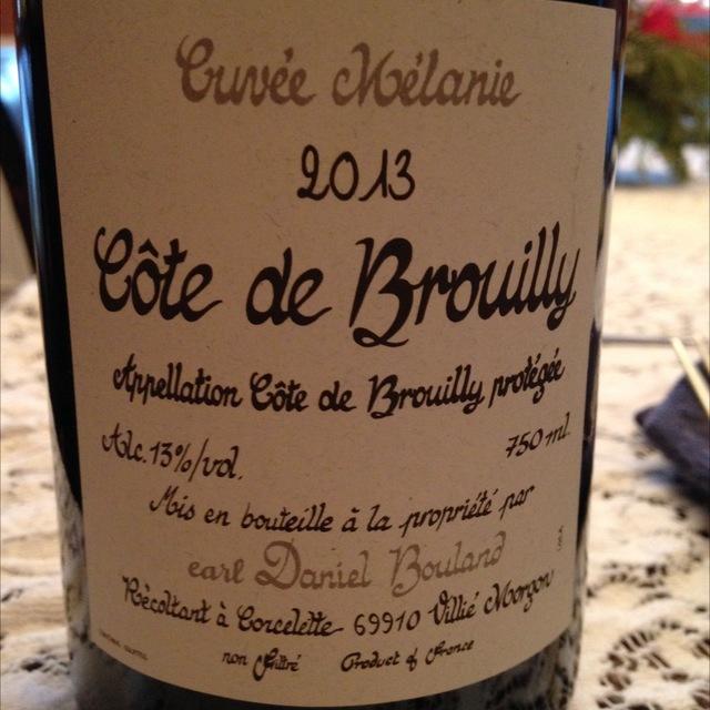Cuvée Mélanie Côte de Brouilly Gamay 2014