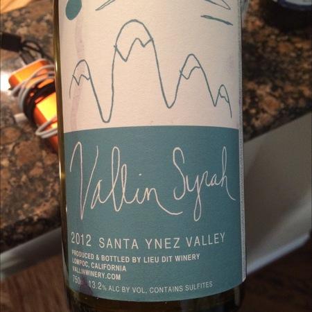 Vallin Wines Syrah 2014