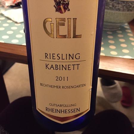 Weingut Geil (Johann Geil) Bechtheimer Rosengarten Kabinett Riesling 2015