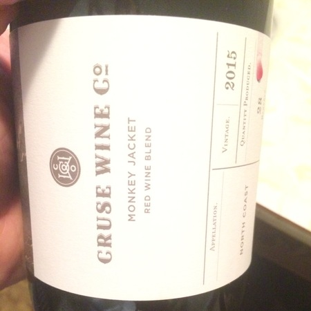 Cruse Wine Co. Monkey Jacket North Coast Red Blend 2016