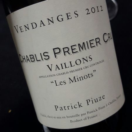 Patrick Piuze Les Minots Vaillons Chablis 1er Cru Chardonnay 2015
