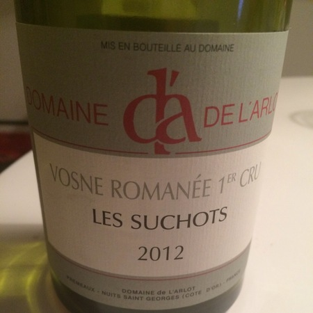 Domaine de L'Arlot Les Suchots Vosne-Romanée 1er Cru Pinot Noir 2012