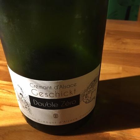 Geschickt Double Zéro Crémant d'Alsace Chardonnay Pinot Blanc NV