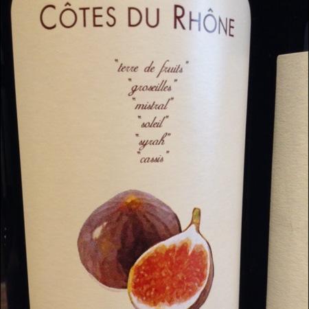 Domaine de la Bastide Cuvée les Figues Côtes du Rhône Syrah Blend 2014