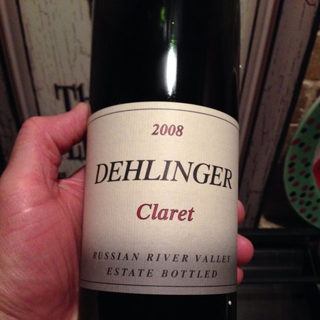 Dehlinger Winery Estate Russian River Valley Claret Cabernet Sauvignon Syrah 2008