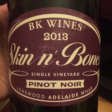BK Wines Skin n' Bones Single Vineyard Lenswood Pinot Noir NV